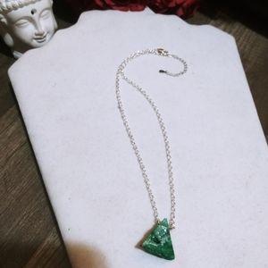 Nwt 925 Sterling JadeQuartzCrystal Geode necklaces
